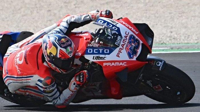 Pebalap Pramac Ducati, Jack Miller, saat berlaga di MotoGP San Marino.