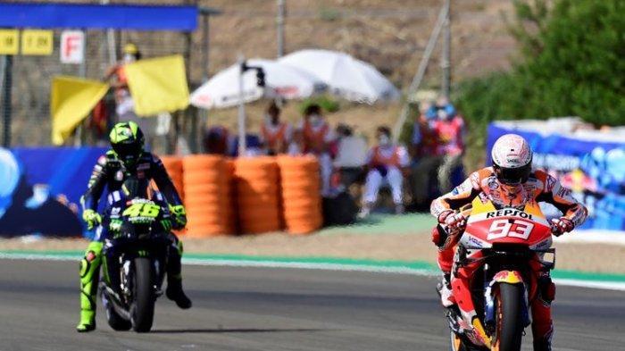 Starting Grid Race MotoGP Spanyol 2021, Marc Marquez Posisi 14, Rossi 17, Quartararo Pole Position