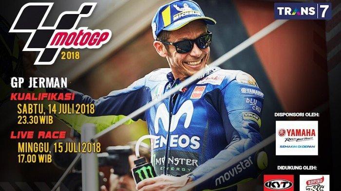 LIVE TRANS 7! Link Live Streaming MotoGP Jerman 2018 di Sirkuit Sachsenring via Streaming Trans7