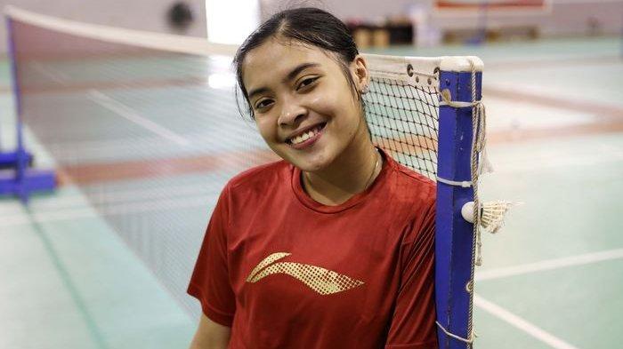 Pebulu tangkis tunggal putri Indonesia, Gregoria Mariska Tunjung.
