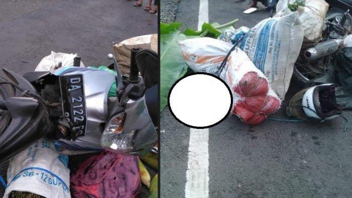 Pedagang Sayur Tabrak Truk Parkir di Sungai Buluh HST, Korban Meninggal di Tempat