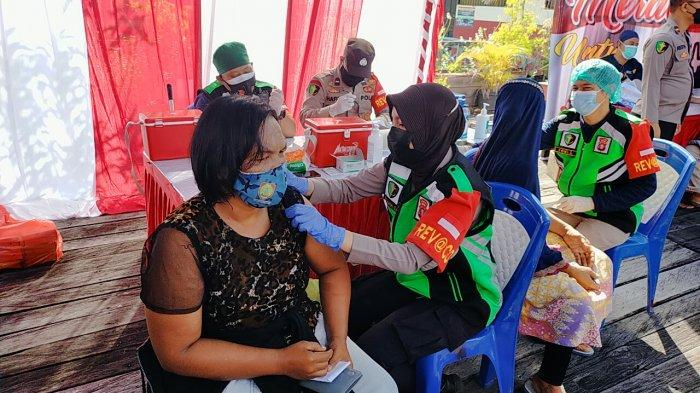 Polda dan Polres Jajaran se- Kalimantan Tengah Menggelar Vaksinasi Covid-19 Serentak