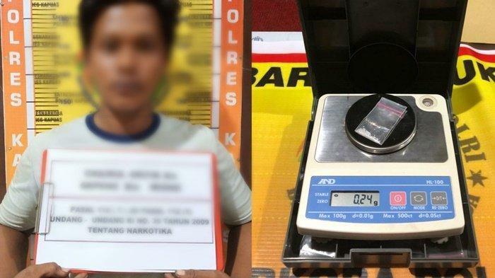 Satresnarkoba Kapuas Kalteng Amankan Pembawa Pahe Sabu saat Melintas di Pinggir Sawah