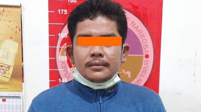 Narkoba Kalteng : Digeledah Polisi, Pria Asal Kobar Kalteng Ini Simpan 10,34 Gram Sabu di Dapur