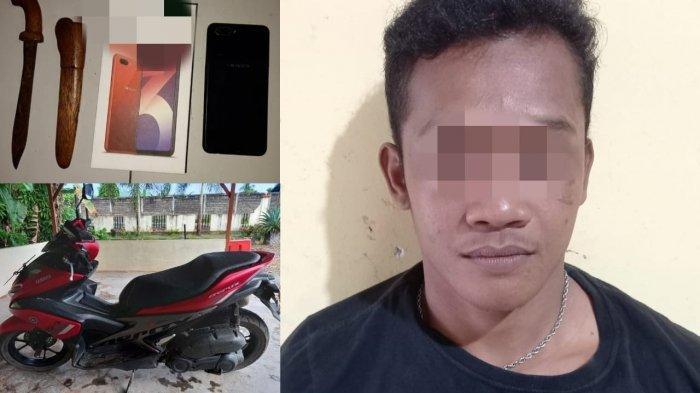 Rampas Sepeda Motor dan Hp Milik Seorang IRT, Pelaku Diamankan Petugas Gabungan Polres Tabalong