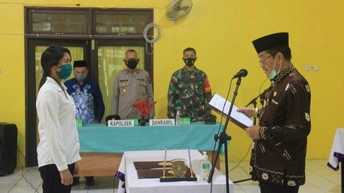 Wakil Bupati HST Lantik BPD Desa Juhu Kecamatan Batang Alai Timur