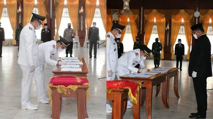 Wali kota dan Wakil Wali kota Banjarbaru HM Aditya Mufti Ariffin SH MH dan Wartono SE Resmi Dilantik