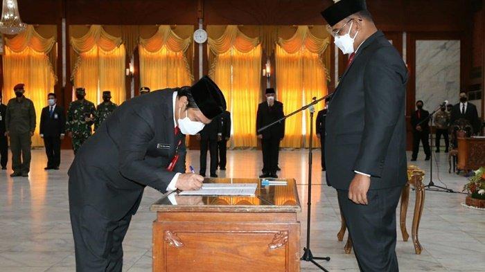 Pj Gubernur Kalsel Minta Sekdaprov yang Baru Dilantik Supaya Bekerja Full Speed