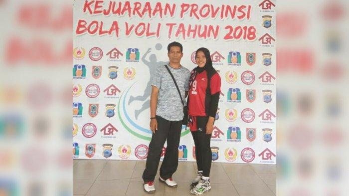 Atlet Asal Tabalong, Sa'wadzatul Adawiyyah Bangga Raih Prestasi di Cabor Voli Bersama sang Ayah