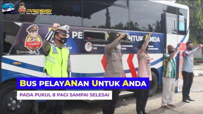 Menuju WBBM, Lantas Polres Tapin Tingkatkan Kualitas Pelayanan SIM Keliling Luncurkan Bus Banua