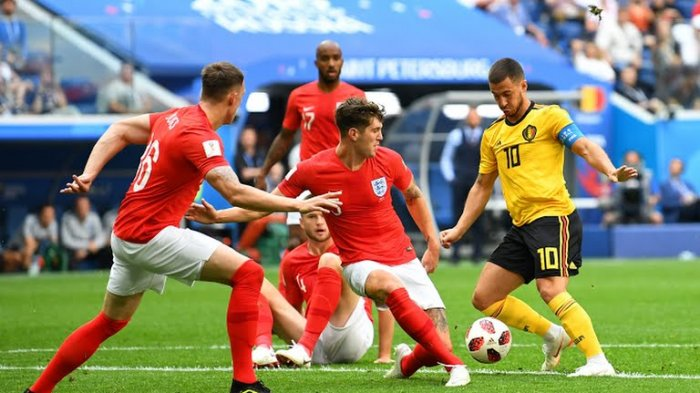 UPDATE LIVE Trans TV & Trans7 Inggris vs Belgia Piala Dunia 2018 Skor 0-1, Peluang Inggris!