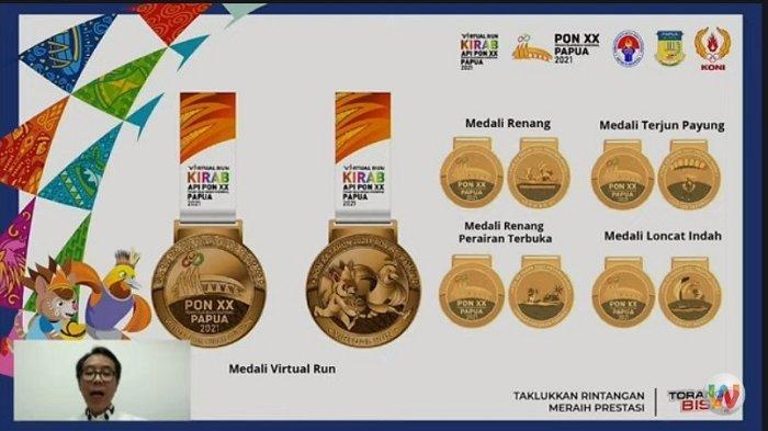 Resmi Dibuka, Peserta Virtual Run Kirab Api PON XX Papua 2021 DapatMedaliSerupa dengan Atlet PON