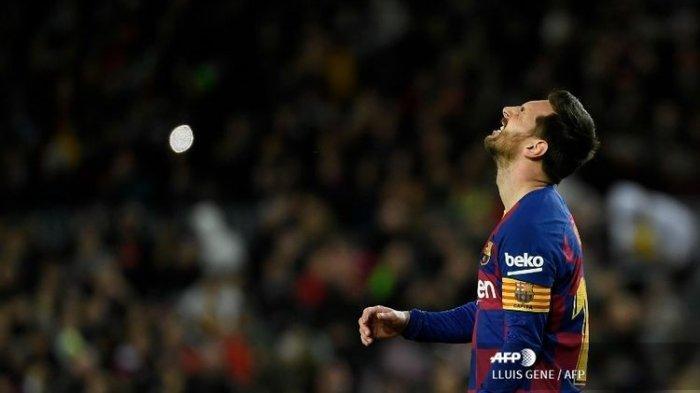 Bintang sekaligus kapten Barcelona, Lionel Messi.