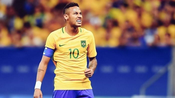 Pemain Brasil Neymar da Silva