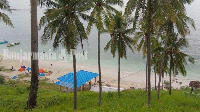 Wisata Kalsel, Pantai Teluk Tamiang Kotabaru dengan Pasir Putih dan Air Laut Jernih