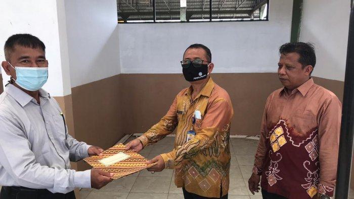 Dit Intelkam Polda Kalsel Sediakan Tempat Cuci Tangan di Pasar Mangga Banjarbaru
