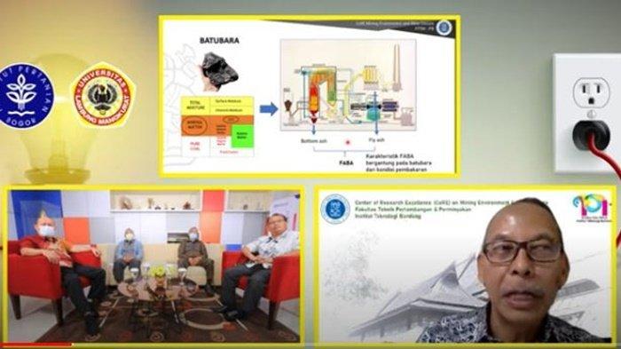 Pembahas FABA batu bara dalam program BTalk di Banjarmasin, Selasa (6/4/2021).