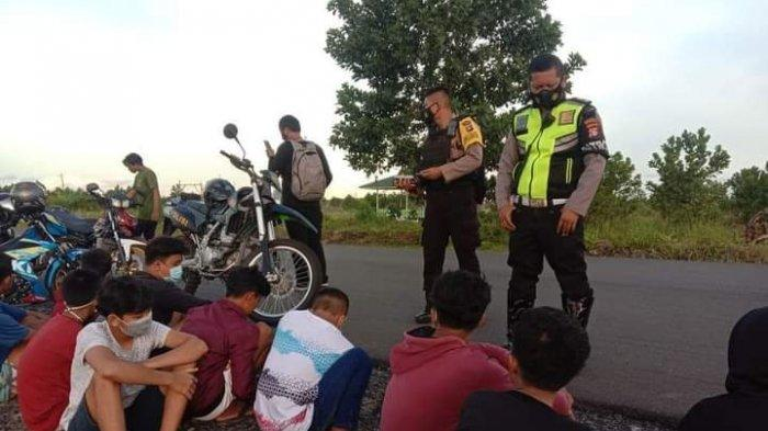 Puluhan Pemotor Bawah Umur di Palangkaraya Diamankan saat Balapan Liar