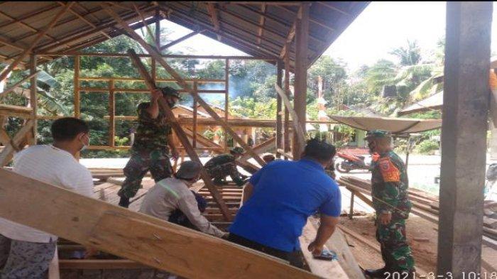 Selain Buka Akses, TMMD ke-110 Kodim 1008/Tanjung Juga Bangun Dua Buah Rumah Tidak Layak Huni