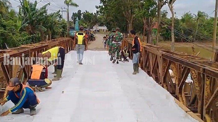 Jembatan Bailey Pabahanan Kabupaten Tala Dibongkar, Personel Denzipur Diterjunkan Lagi