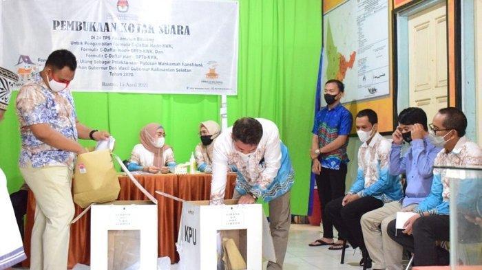 PSU Pilgub Kalsel 2020, KPU Tapin Gelar Pembukaan Kotak Suara 24 TPS di Kecamatan Binuang