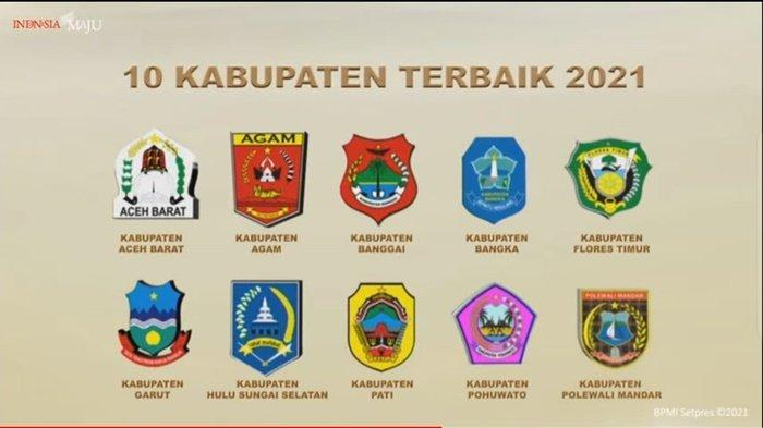 Pemerintah Kabupaten HSS Terbaik Tiga se Indonesia Penghargaan Pembangunan Daerah 2021