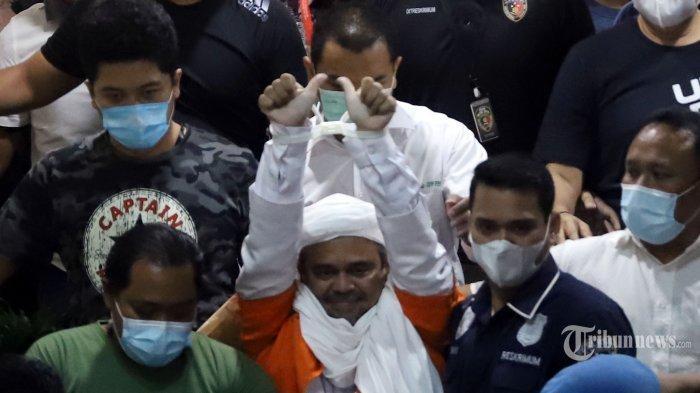 FAKTA Rizieq Shihab Berteriak Histeris dan Nyaris Pingsan di Tahanan hingga Suasana Kalang Kabut