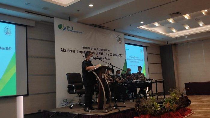 Pemkab Batola FGD Akselerasi Implementasi Inpres 2 Tahun 2021 di Hotel Mercure Banjarmasin, Selasa (20/4/2021).