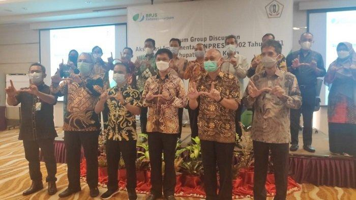 Pemkab Batola menggelar FGD Akselerasi Implementasi Inpres 2 Tahun 2021 di Hotel Mercure Banjarmasin, Selasa (20/4/2021).