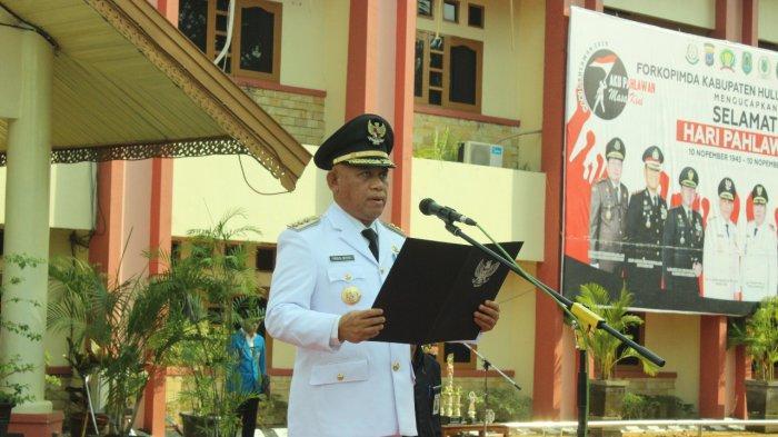 Bupati Wahid Pimpin Peringatan Hari Pahlawan, Diikuti 197 Perwakilan Paskibra se Kalsel
