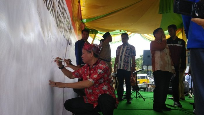 Jelang Masa Kampanye Pemilu 2019, Pemko Banjarmasin Gelar Deklarasi Pemilu Damai