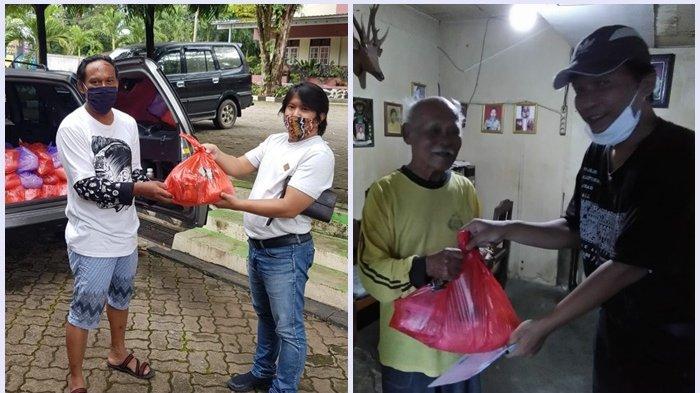 Pemuda Katolik Banjarbaru Bagi Sembako Pada Warga Terdampak Covid-19