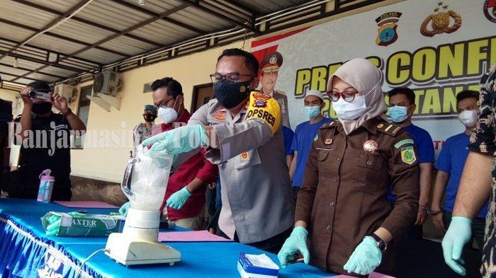 Narkoba Kalsel, Polres Tala Musnahkan Ratusan Gram Obat Terlarang