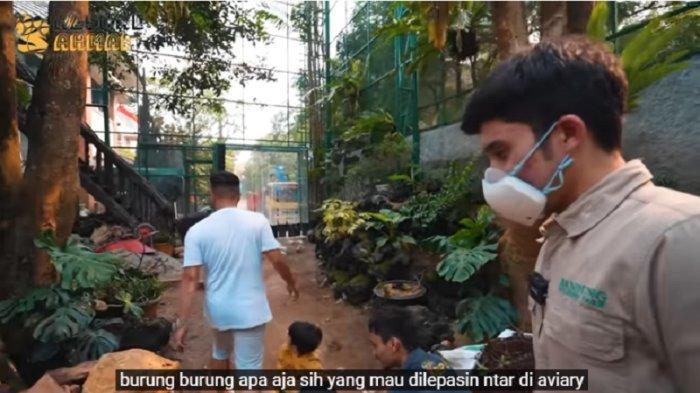 Penampakan bagian dalam aviary Irfan Hakim