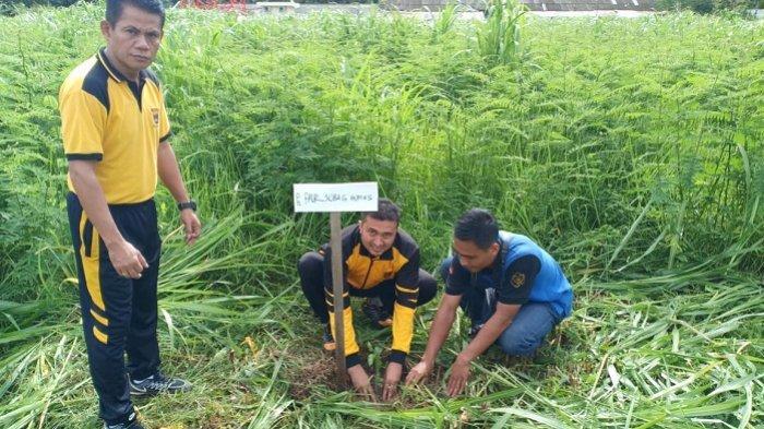 Tanam 1000 Pohon Buah-Buahan, Polres HST Hijaukan Asrama Polisi dan Lapangan Tembak