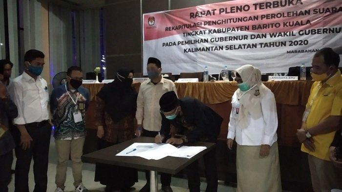 Rekapitulasi Pilgub Kalsel di Batola Rampung, BirinMu Menang Telak Raih 61,8 Persen