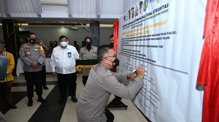 Biro Rena Polda Kalsel Deklarasikan Pencanangan Zona Integritas Menuju WBK dan WBBM