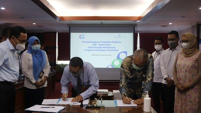 Jalin Kerjasama dengan PT SMF, Bank Kalsel Dapat Suntikan Modal Rp 95 Miliar