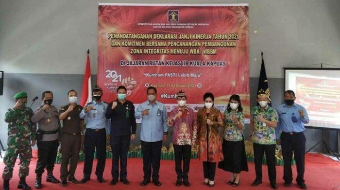 Rutan Kualakapuas Canangkan Pembangunan Zona Integritas Menuju WBK WBBM