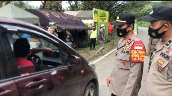 Jalani Rapid Test di Pos Pam Binuang, Pemudik Tujuan Amuntai Reaktif Covid-19, Petugas Lakukan Ini