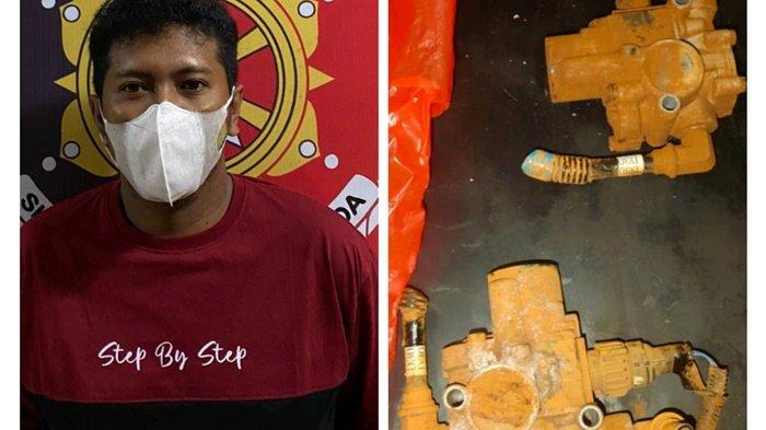 Unit Resmob Polres Tanbu Tangkap Pekerja Nekad Curi Mesin di PT Dua Samudera Perkasa