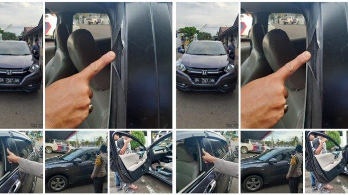 Pencurian Kalsel. Peristiwa pecah kaca mobil yang terungkap dan pelakunya kini diamankan di Polres Tabalong, Kalimantan Selatan, Sabtu (25/9/2021).