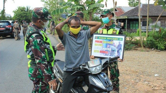 Tim Satgas Covid-19 Sosialisasikan Protokol Kesehatan di Babirik Kabupaten HSU