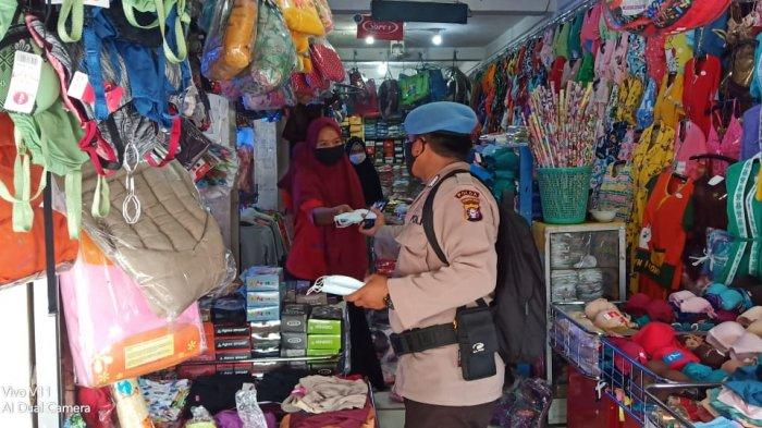 Penerapan PPKM Skala Mikro di Palangkaraya, Pasar Kahayan Palangkaraya Dibangun Posko PPKM Mikro