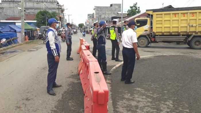 Jalan Satu Arah di Pagatan Tanbu Rusak Parah, Begini Pengaturan Dilakukan Dishub