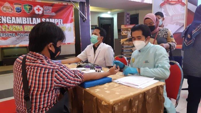 100 Personel Polda Kalsel Siap Donor Plasma Konvalesen, Ini Respons UDD PMI Banjarmasin