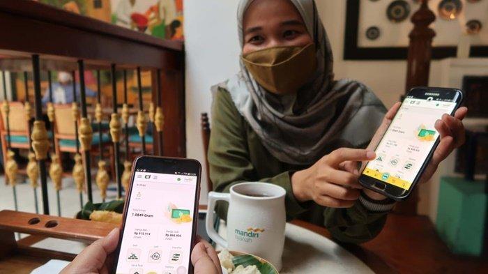 Pengelolaan keuangan berbasis emas di era digital melalui fitur e-mas di Mandiri Syariah Mobile.