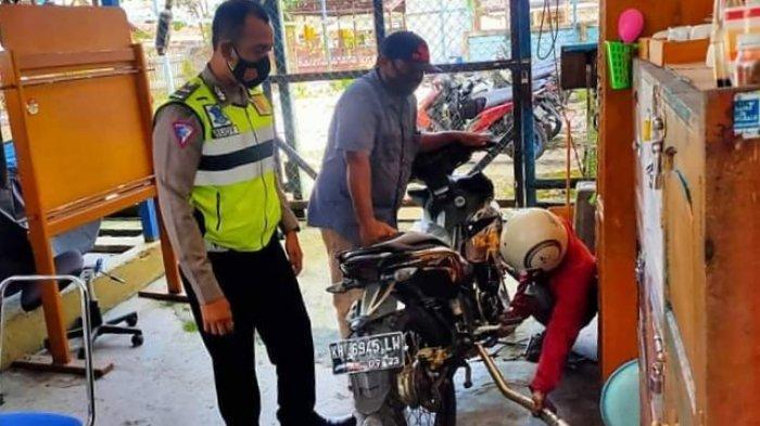 Penggunaan Knalpot Brong Sepeda Motor Marak di Sampit, Polisi Giatkan Patroli
