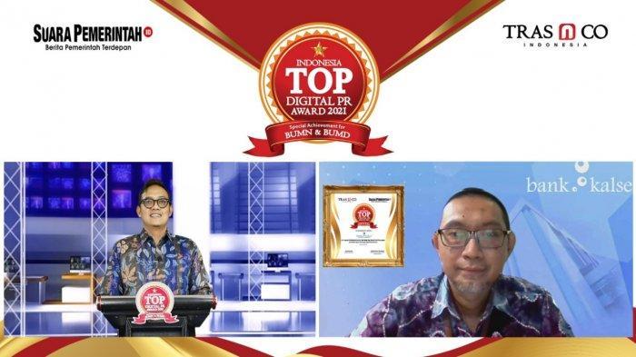 Bank Kalsel Raih Penghargaan Indonesia TOP Digital Public Relation Award 2021