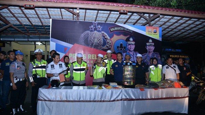 Sambut 2019- Polres Banjar Sisakan Kasus Pengancaman Anggota DPRD dan Perampokan Driver Taksi Online